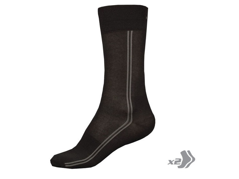 ENDURA Coolmax Long Sock (Twin Pack) click to zoom image