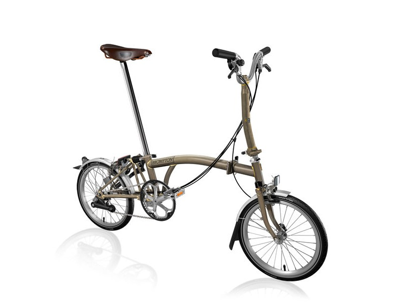 BROMPTON M6-L Raw +Marathons and Brooks Saddle click to zoom image