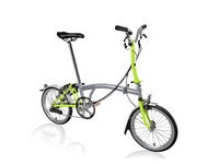 BROMPTON M6-L (+Marathons)  Grey/Lime  click to zoom image
